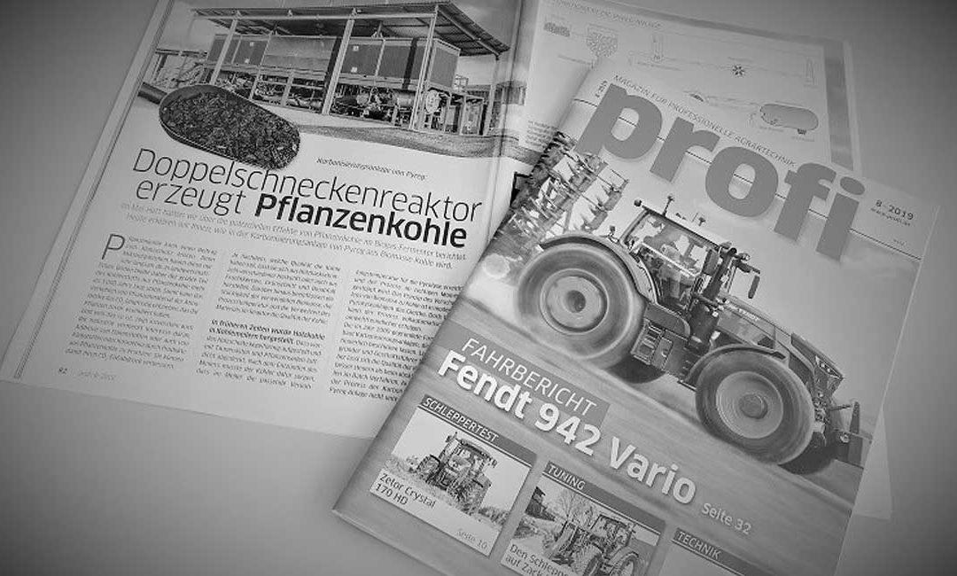 PYREG IN DER LANDWIRTSCHAFT: Profi Magazin stellt Karbonisierungvor